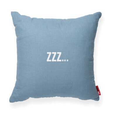 Expressive Zzz... Decorative Throw Pillow Size: Medium, Color: Blue