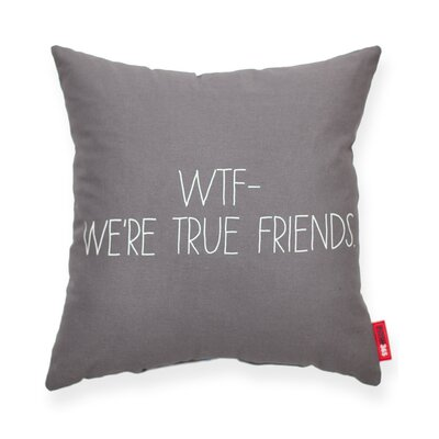 Expressive WTF Decorative Throw Pillow Color: Gray, Size: Medium