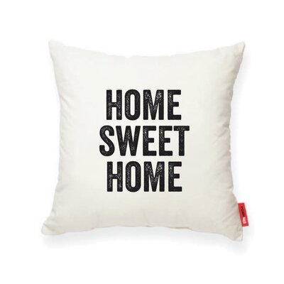 Expressive Home Sweet Home Decorative Cotton Throw Pillow