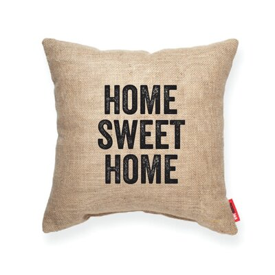 Expressive Home Sweet Home Decorative Burlap Throw Pillow