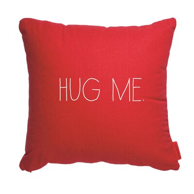 Pettis Hug Me Throw Pillow Color: Red, Size: 17H x 17W