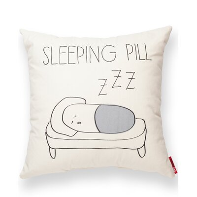 Sleeping Pill Cotton Throw Pillow