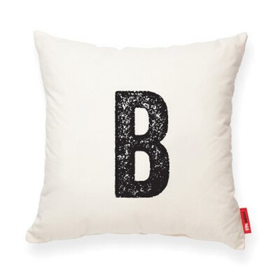 Expressive B Decorative Pillow Color: White