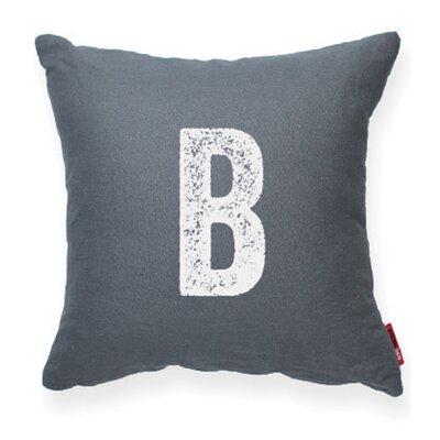 Expressive B Decorative Pillow Color: Gray