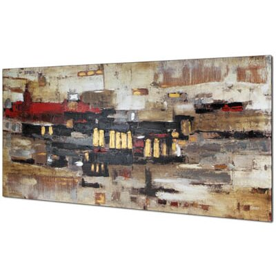 Collage Abstract by Tina O. Painting on Wrapped Canvas