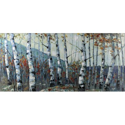 Autumn Birch Forest by I.Kite. Painting Print on Wrapped Canvas