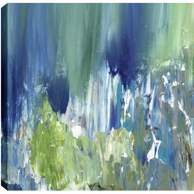 Bright Pond Abstract by Sanjay Patel Original Painting on Wrapped Canvas Size: 36