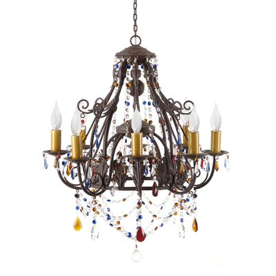 Leaf 8-Light Candle-Style Chandelier