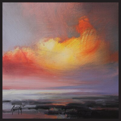 'Bright Sunset' Framed Painting Print on Wrapped Canvas