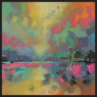 'Abstract' Framed Painting Print on Wrapped Canvas