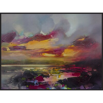 'After Sunset' Framed Painting Print on Wrapped Canvas