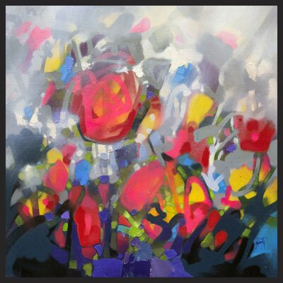 Â'Floral III' Framed Painting Print on Wrapped Canvas