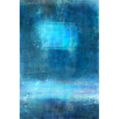 'Sapphire Blues' Acrylic Painting Print on Wrapped Canvas