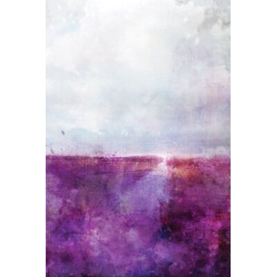 'Sapphire Purples' by Joshua Acrylic Painting Print on Wrapped Canvas