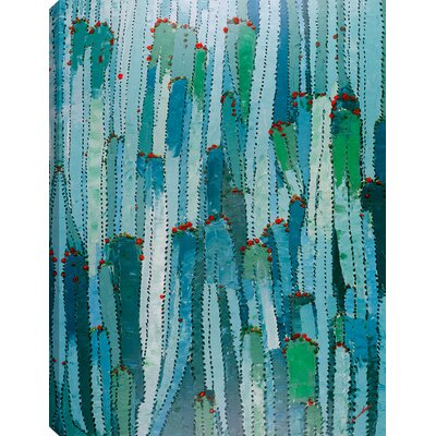 'Cactus' Acrylic Painting Print on Canvas