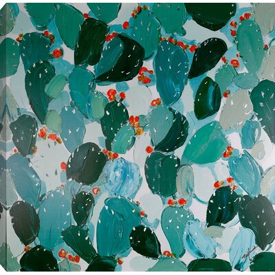 'Cactus II' Acrylic Painting Print on Canvas