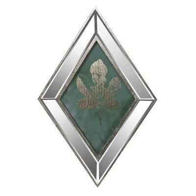 'Maple' Rhombus Framed Graphic Art Print on Glass