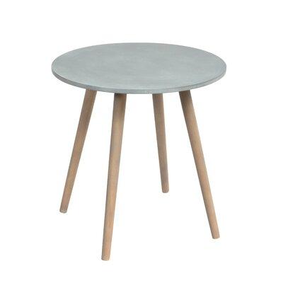 Bugatti Pine Wood Legs Firwood Veneer Round End Table