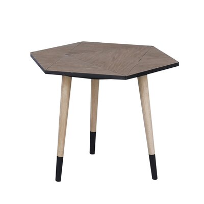 Bruner Wooden End Table
