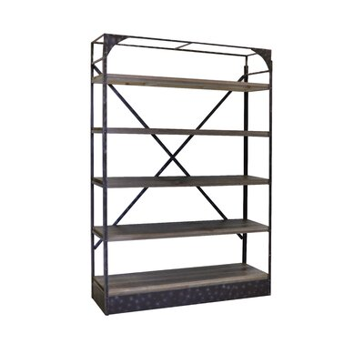 Reliable Rustic Metal Etagere Bookcase Product Photo