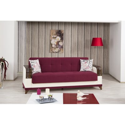 Almira Sleeper Sofa Upholstery: Gold Burgundy