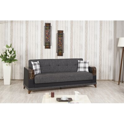 ALMIRA:gray-sofa KLDF1003 Casamode Functional Furniture Almira Convertible Sofa