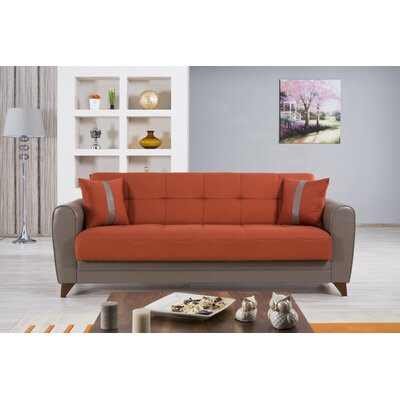 BELLA VISTA:orange-sofa KLDF1002 Casamode Functional Furniture Bella Vista Convertible Sofa