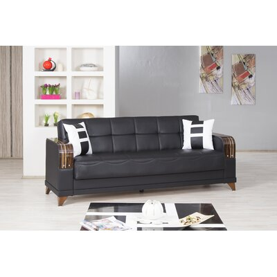 Almira Sleeper Sofa Upholstery: Zen Black