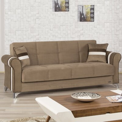 ML-BROWN KLDF1006 Casamode Functional Furniture Metro Life Futon Convertible Sleeper Sofa