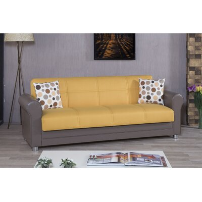 Avalon Futon Sleeper Sofa Upholstery: Yellow