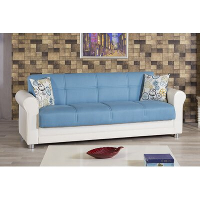 Avalon Futon Sleeper Sofa Upholstery: Blue