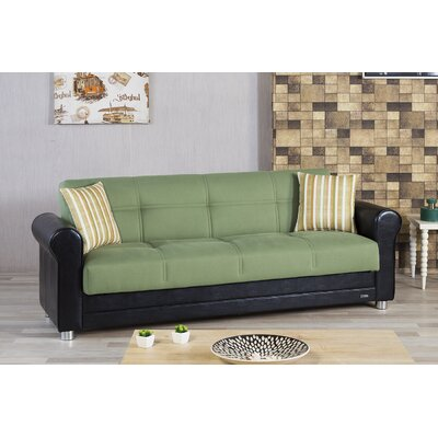 Avalon Futon Sleeper Sofa Upholstery: Green