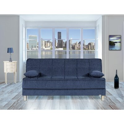 Smart Fit Futon Convertible Sofa Upholstery: Dark Blue