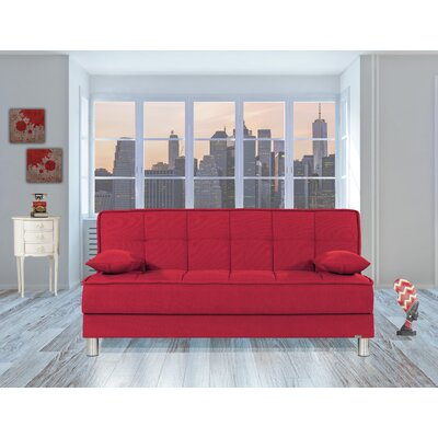 Smart Fit Futon Convertible Sofa Upholstery: Red