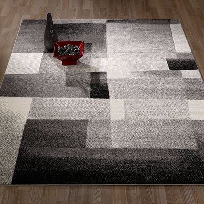City Geometric/Abstract Tiles Gray Area Rug