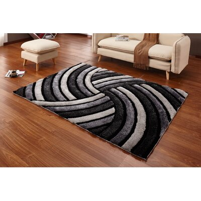 Regina Gray/Black Area Rug
