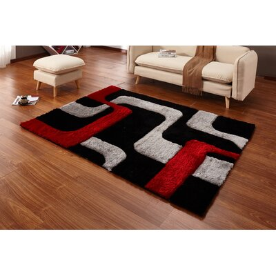 Regina Black/Red/Gray Area Rug
