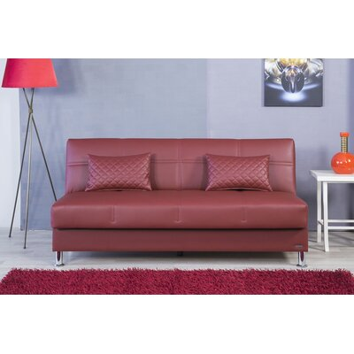Zen Eco Rest Convertible Sofa Finish: Burgundy