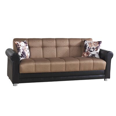 Avalon Futon Sleeper Sofa Upholstery: Brown