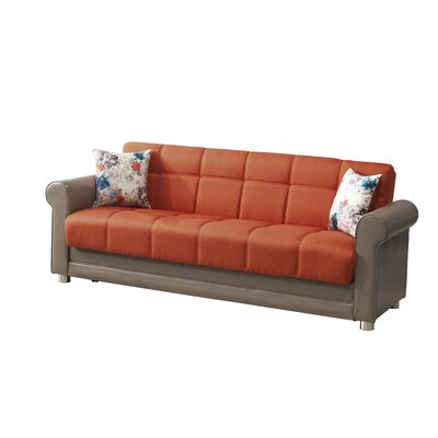 Avalon Futon Sleeper Sofa Upholstery: Orange
