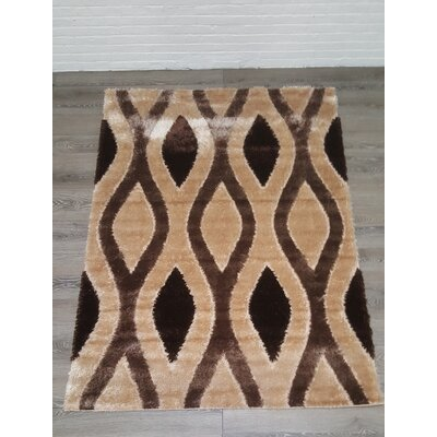 Casa Regina Shaggy 3D Biege/Brown Area Rug
