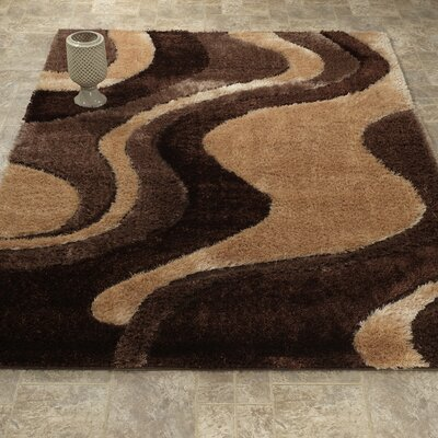 Casa Regina Shaggy 3D Wave Beige/Brown Area Rug