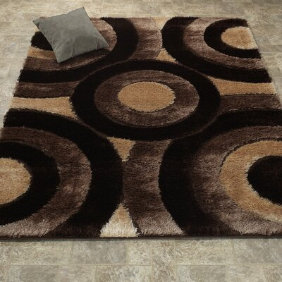 Casa Regina Shaggy 3D Brown/Beige Area Rug