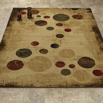 Elegant Modern Contemporary Beige/Brown Area Rug