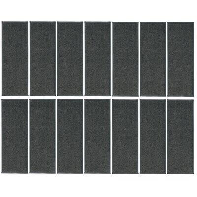Rhoda Non-Slip Gray Stair Tread Quantity: 14