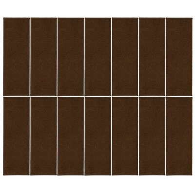 Rhoda Non-Slip Brown Stair Tread Quantity: 14