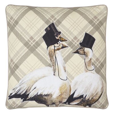 Burnes Geese Embroidered Throw Pillow