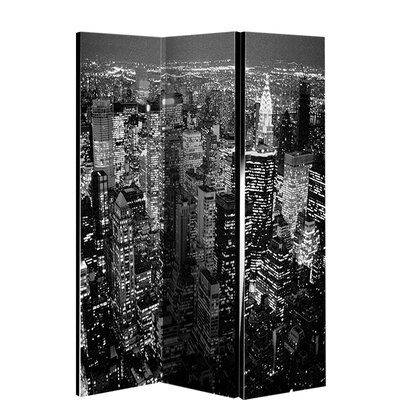 3-tlg. Raumteiler 150 cm x 120 cm | Wohnzimmer > Regale > Raumteiler | Schwarz | Arthouse