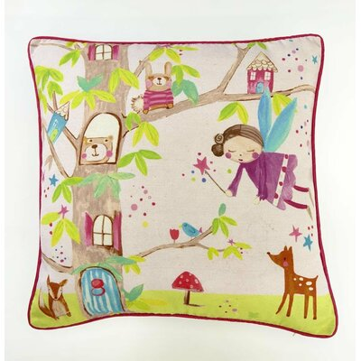 Griselda Woodland Fairies Throw Pillow