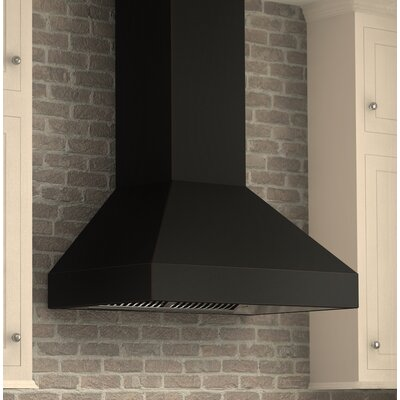 "36"" 900 CFM Ducted Wall Mount Range Hood Finish: Oil-Rubbed Bronze 8597B-36"